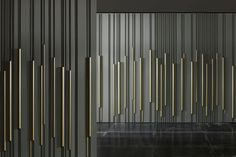 Wall-mounted decorative panel / wood / lacquered / 3D effect - BAMBOO by Diego Maria Piovesan - LAURAMERONI