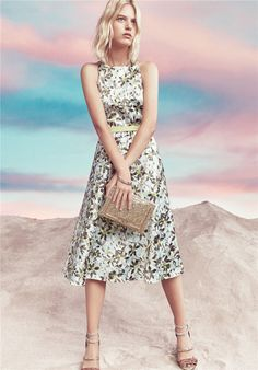 Full skirt satin dress from Patrizia Pepe collection