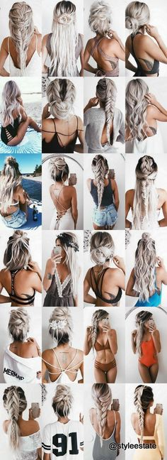 Hairstyle Ideas: The Top 24 Hairstyles 2016 by Blonde IG Model Emily Hannon . - Hairstyle Ideas: The Top 24 Hairstyles 2016 by Blonde IG Model Emily Hannon Plaits Hairstyles, Cool Hairstyles, Hair Plaits, Summer Hairstyles, Blonde Hairstyles, Summer Hairdos, Hairstyles Tumblr, Wedding Hairstyles, Fashion Hairstyles