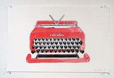 love this...not only is it colorful, but its art. not a real typewriter...i love the simplicity yet complexity of it