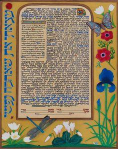 Custom Ketubah based on 15th century Book of Hours