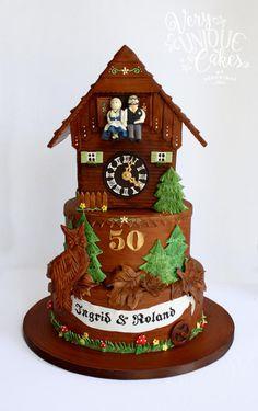 German Cuckoo Clock Cake - Cake by Very Unique Cakes by Veronique