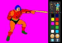 Cartoon character, man of arms paint. #paintinggames #games #coloringgames #heman  http://www.toppaintinggames.com/game/59/Man-of-Arms-Painting.html