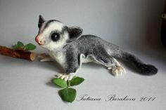 "Animal toys, handmade.  Sugar Glider ""John"".  Barakova Tatiana.  Fair Masters.  Latvian kardoches"