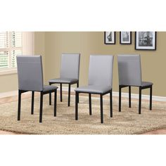 5 Piece Citico Metal Dinette Set with Laminated Faux Marble Top (Grey), Size 5-Piece Sets