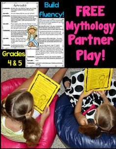 Build reading fluency in a fun way... with upper elementary partner plays!  Download this FREE 2-person script about Aphrodite that students can read with a partner!