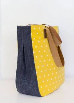 7f05885d861b3 Image result for Trapezoid Tote sewing pattern free Denim Bag