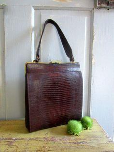 1950s Snake Skin Purse/Handbag $44.00