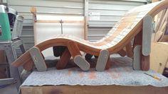 The final Product.  A multi-legged Chaise Longue