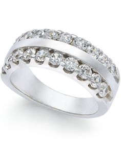 Diamond Two-Row Ring (1-1/2 ct. t.w.) in 14k White Gold