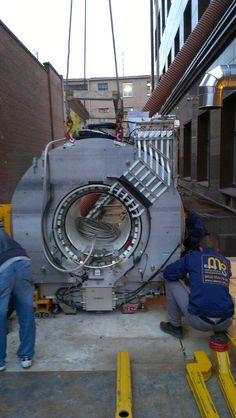Демонтаж внешней конструкции МРТ и перемещение на место эксплуатации.
