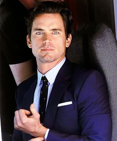 """Navy & white to perfection. . . "" with Matt Bomer."