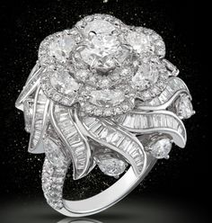 Nirav Modi ring from the Mughal Collection Pear Shaped Diamond, Diamond Cuts, Pearl Club, Diamond Are A Girls Best Friend, Luxury Jewelry, Diamond Jewelry, Diamond Rings, Beautiful Rings, Indian Jewelry