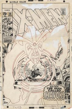 X-Men #58(1969),original art for the cover by Neal Adams.