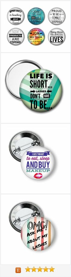 Younique Presenter Marketing Advertising pinback buttons badge reels magnets key chains jewelry and more #younique #3dmascara #magicmascara #3dfiber #marketing #advertising #directsales #mlm #pinbackbuttons
