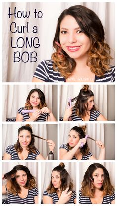 How to curl a long bob with a flat iron from ghd 1 inch ceramic styler for my ombre hair