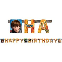 How to Train Your Dragon Birthday Banner