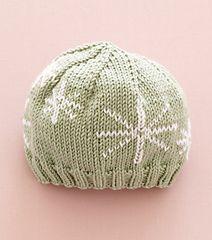 Duplicate Stitch Baby Hat by Lion Brand Yarn