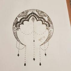 Dibujo tatu luna