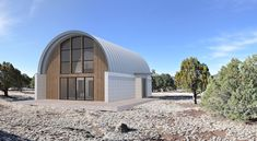 Visit the post for more. Silo House, Hut House, Dome House, Steel Building Homes, Building A House, Quonset Hut Homes, Arched Cabin, Building Systems, Building Ideas