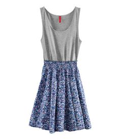 Blue floral dress. Also comes in Red. ($17.95)