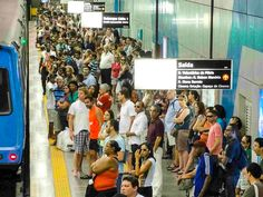 Move around with the Rio Metro. If you avoid the most busy hours, it is a very comfortable and fast way of traveling. World Cup, Rio, Times Square, Traveling, Viajes, World Cup Fixtures, Trips, Travel