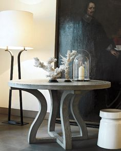 Christian Liaigre's London showroom with the Somaria table.