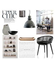 """Upper Chic"" by nmkratz ❤ liked on Polyvore featuring interior, interiors, interior design, home, home decor, interior decorating, Magis, French Connection, Georg Jensen and H&M"
