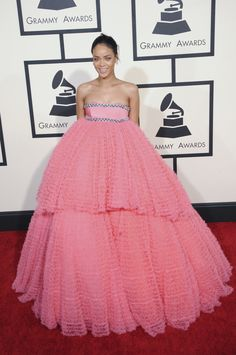7 Things Rihanna's Pink Grammys Gown Looked Like | StyleCaster