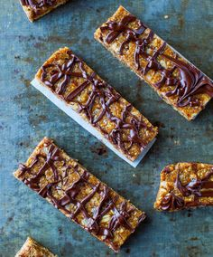 Sunflower Seed Butter Granola Bars with Chocolate Drizzle (no-bake, vegan, gluten-free)