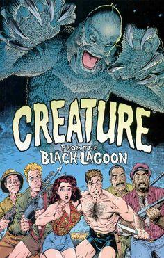 Universal Monsters: Creature from the Black Lagoon, Dark Horse Comics. Wonderful adaption by Art Adams. Cool Monsters, Horror Monsters, Famous Monsters, Classic Monsters, Comic Book Artists, Comic Books Art, Comic Art, Monster Squad, Monster Art