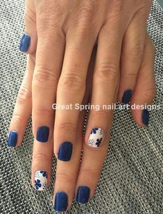 18 Nail Art Hacks Everyone Should Know Outstanding white and blue nail art Best Nail Art Designs, Nail Designs Spring, Blue Nail Designs, Pedicure Designs, Cute Toenail Designs, Nautical Nail Designs, Spring Design, Diy Wedding Nails, Bridal Nails