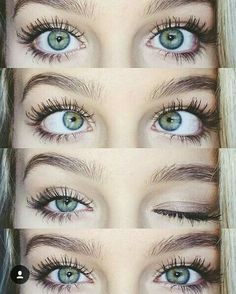 Her eyes were beautifully green and she had long thick black eyelashes they were so expressive they seemed to tell a story by themselves. Beautiful Eyes Color, Pretty Eyes, Cool Eyes, Green Eyes, Blue Eyes, Beauty Makeup, Eye Makeup, Shotting Photo, Aesthetic Eyes