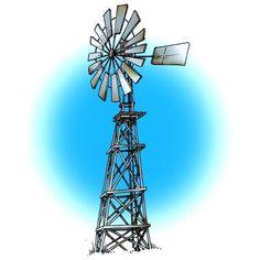 Rusty Windmill Digi Stamp in Digital images
