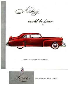 Lincoln Continental Coupe, 1946 - Advertising