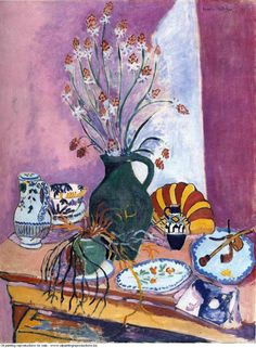 Still Life with Flowers - Henri Matisse Art Reproduction Henri Matisse, Matisse Kunst, Matisse Art, Art And Illustration, Illustrations, Art Amour, Matisse Paintings, Art Paintings, Art Du Monde
