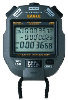 ACCUSPLIT AE625M35 Eagle Stopwatch with 35 Memory -- Click image to review more details.