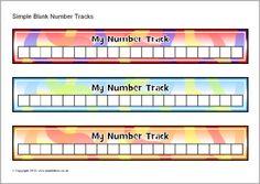 Simple blank number tracks (SB10114) - SparkleBox