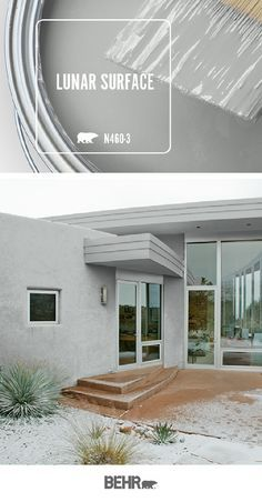 With spring almost here its time to refresh the exterior of your home for the warmer weather ahead. A new coat of Behr Paint in Lunar Surface is a timeless neutral choice thats sure to please. Click below for full color details to learn more. Behr Paint Colors, Paint Color Schemes, Bedroom Paint Colors, Room Colors, Exterior Gray Paint, Exterior Paint Colors For House, Paint Colors For Home, Grey Interior Paint, Exterior Colors