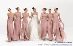 long bridesmaid dresses, mismatched bridesmaid dresses, blush pink bridesmaid dresses, bridesmaid dresses from fitdesigndress Wedding Dress Chiffon, Wedding Party Dresses, Party Gowns, Chiffon Dresses, Prom Party, Blush Dresses, White Chiffon, Chiffon Gown, Chiffon Ruffle