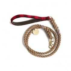 Found My Animal Rope Leash Buffalo Plaid