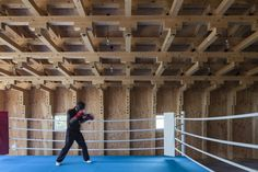 Estructuras de Madera: Sala de Tiro y Club de Boxeo / FT Architects Timber Structure : Archery Hall