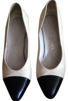 Chanel Beige With Black Toe Pumps $218