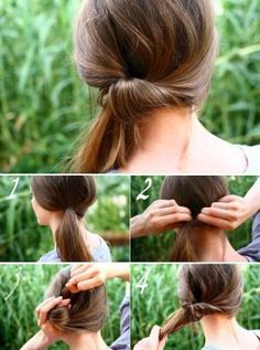 I remember thinking this was the ultimate in 'fancy' hairstyles last time I had Long Hair (so.) who new pulling it to the side could take it out of the play-ground? Side Ponytail Hairstyles, Curly Hair Ponytail, Side Ponytails, Ponytail Styles, Trendy Hairstyles, Short Hair Styles, Side Hair Styles, Simple Everyday Hairstyles, Wave Hairstyles