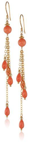 Dyed Coral and Gold-Plated Silver Chain Multi-Drop Earrings Amazon Collection http://www.amazon.com/dp/B007VIMZF2/ref=cm_sw_r_pi_dp_-Iwhvb0C5SSF8