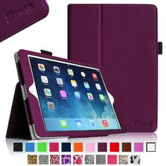 Fintie Apple iPad Air Folio Case - Slim Fit Leather Smart Cover with Auto Sleep / Wake Feature for iPad Air 5 (5th Generation) - Purple Fintie http://www.amazon.com/dp/B00G6C6140/ref=cm_sw_r_pi_dp_7RfRtb10YXDF2FTK