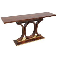 French Walnut Console | From a unique collection of antique and modern console tables at https://www.1stdibs.com/furniture/tables/console-tables/