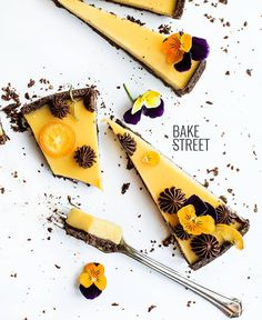 orange, apricot and chocolate tart