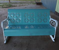 Powder Coating, Gliders, Outdoor Furniture, Outdoor Decor, Bench, Home Decor, Interior Design, Home Interior Design, Desk