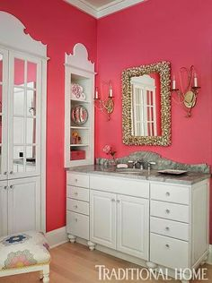 1000 images about pink bathrooms on pinterest pink - Pink bathroom color schemes ...